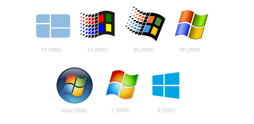 Evolution of Microsoft's logo Design